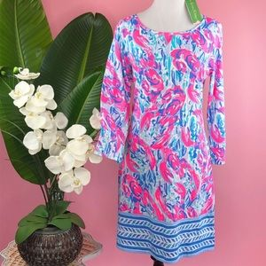 Lilly Pulitzer Cosmic CoralCrackedUp Marlowe Dress